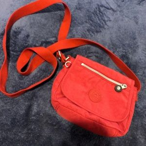 Red Kipling Crossbody Bag/ Purse